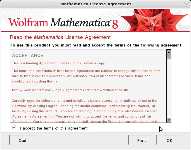 Print Text Mathematica
